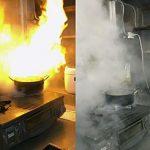 【リアル火事】天ぷら油火災に消火スプレーの威力は?人間の思考と行動は?【実例動画】
